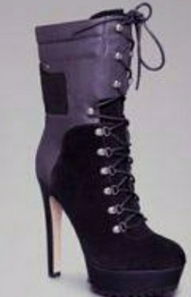 4e98feee65f Bebe Evie suede lace up ankle boots Blk sz 10 NWT NWT